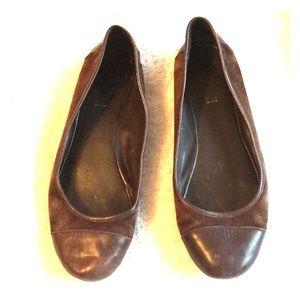 Lauren Amera Brown Leather Flats